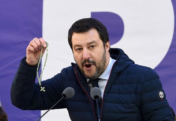 Zahodno-potrošniški vernik, notranji minister Italije, Matteo Salvini