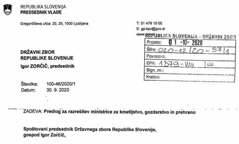 Janšev predlog za razrešitev Pivčeve že v državnem zboru