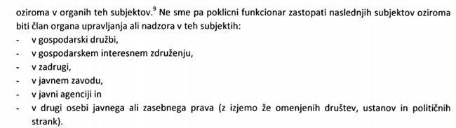 Iz sistemskih smernic KPK, julij 2011