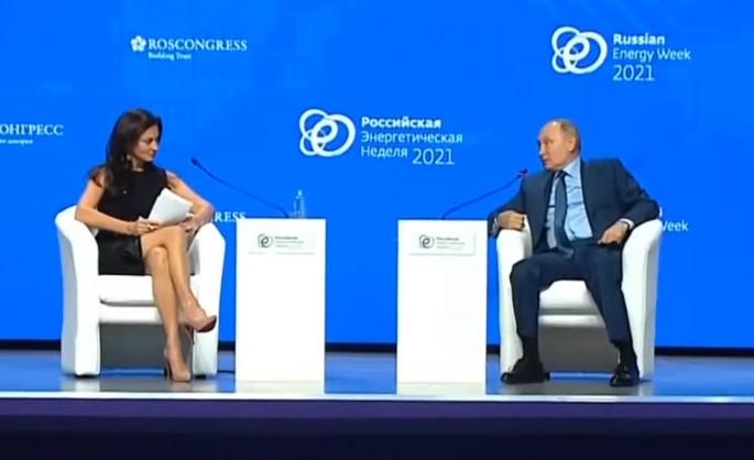 Ruski mediji obtožujejo ameriško novinarko Hadley Gamble, da je kot spolni objekt zmedla Putina